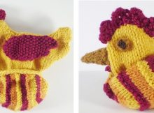 Knitted reversible chicken | The Knitting Space