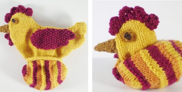Knitted Reversible Chicken Or Egg Toy Free Knitting Pattern