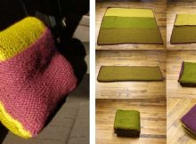 Practical knitted car blanket cum pillow | The Knitting Space