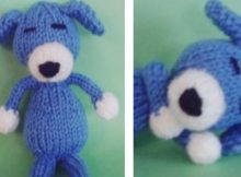 Adorable sleepy knitted puppy dog | The Knitting Space