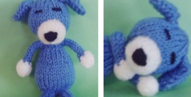 Adorable Sleepy Knitted Puppy Dog Free Knitting Pattern