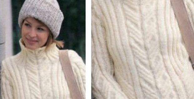 Urban Knitted Aran Pullover Free Knitting Pattern