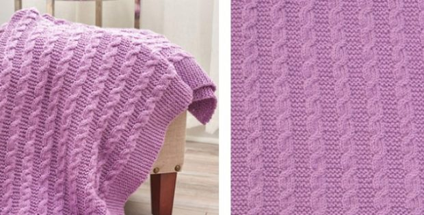 Exquisite Cable Knitted Throw Free Knitting Pattern Video Tutorial