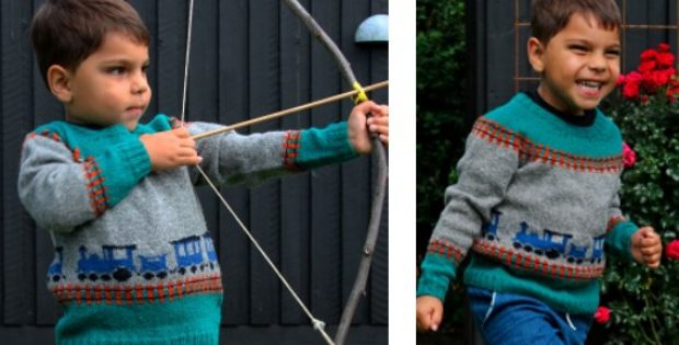 Knitted Train Sweater Free Knitting Pattern
