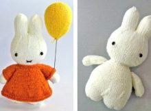 Adorable miffy knitted soft toy | The Knitting Space