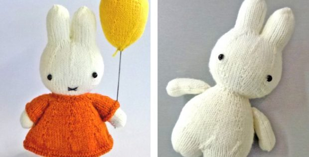 Adorable Miffy Knitted Soft Toy Free Knitting Pattern