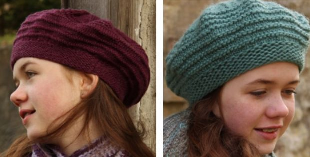 Liatris Knitted Beret Style Hat Free Knitting Pattern