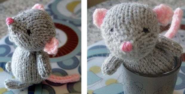 Super Cute Marisol Knitted Mouse [FREE Knitting Pattern]