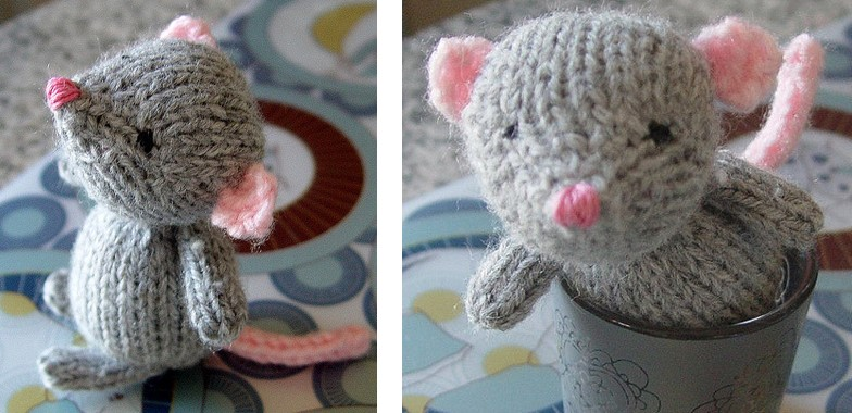 Super Cute Marisol Knitted Mouse Free Knitting Pattern
