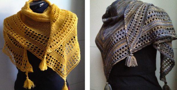 Light Knitted Eyelet Shawl Paid Knitting Pattern
