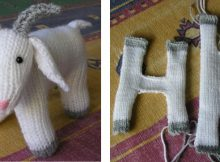 Knitted fester goat soft toy | The Knitting Space