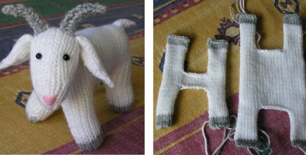Knitted Fester Goat Soft Toy Free Knitting Pattern