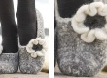 Winter ballerina knitted slippers | The Knitting Space