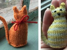 Super cute tiny knitted window cat | The Knitting Space