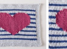 Perfectly preppy knitted dishcloth | The Knitting Space