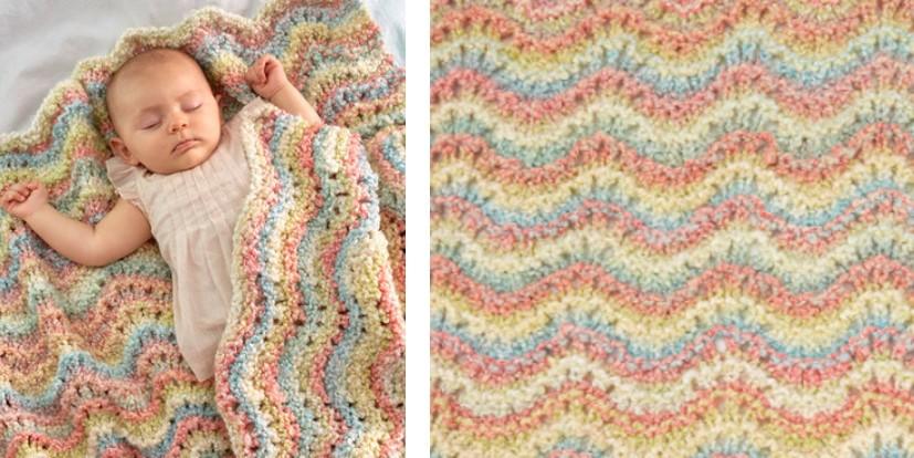 Rocking Waves Knitted Baby Blanket [FREE Knitting Pattern]