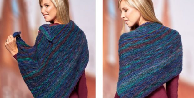 Stylish cecilia knitted shawl | The Knitting Space