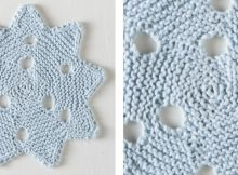 Pretty snowflake knitted dishcloth | The Knitting Space