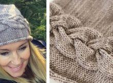 Sideways braid knitted beanie   The Knitting Space