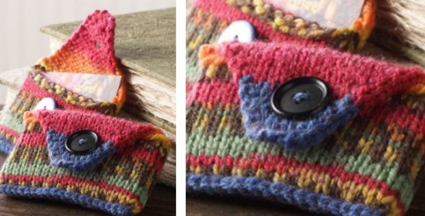 Knitted business card case free knitting pattern colourmoves