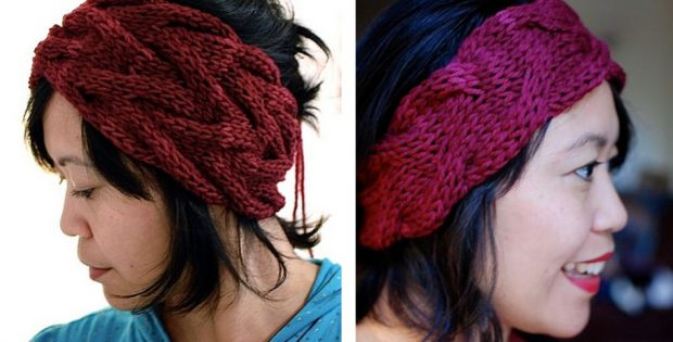 Stylish Vanessa Knitted Headband Free Knitting Pattern