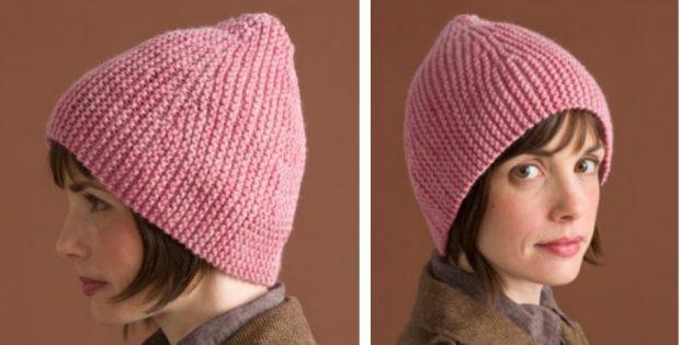 1c07c383b51 Sideways Knitted Garter Hat  FREE Knitting Pattern