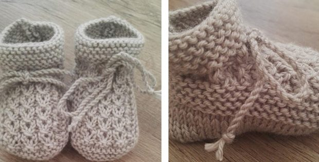 Little Eyes Knitted Baby Booties Free Knitting Pattern