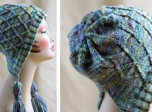 Iris bloom knitted bonnet   The Knitting Space
