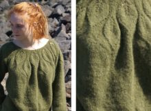 Avalanche leaf yoke knitted pullover | The Knitting Space