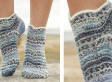 Dancing zoe knitted ankle socks | The Knitting Space