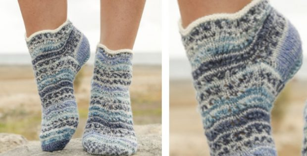 Dancing Zoe Knitted Ankle Socks Free Knitting Pattern
