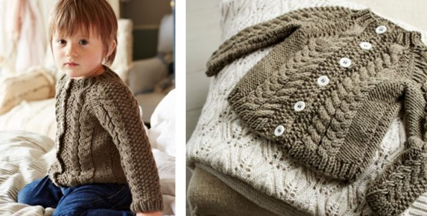 Kalen Knitted Toddler Cardigan Free Knitting Pattern