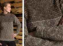 Waffle stitch knitted pullover | The Knitting Space