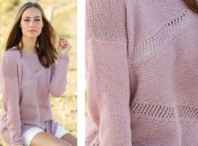 Diagonal lace knitted sweater | The Knitting Space
