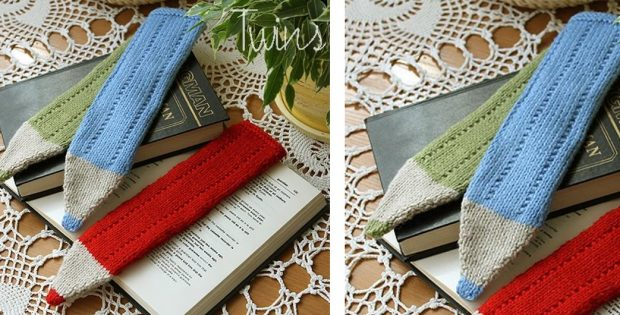 Fun Knitted Crayon Bookmark | The Knitting Space