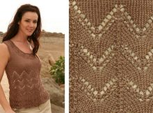 Stylish Knitted Lace Summer Top | The Knitting Space