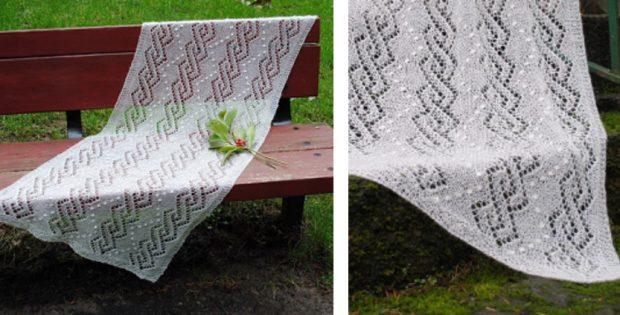Light Knitted Lace Shawl Free Knitting Pattern