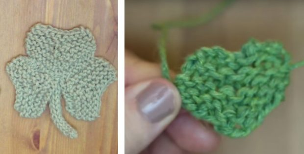 Fun Knitted Shamrock Clovers Free Pattern Video Tutorial