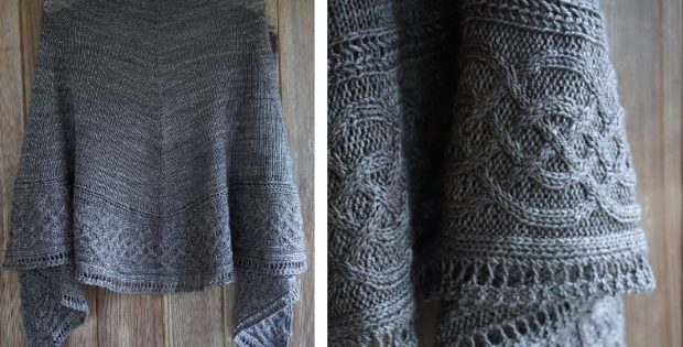 Celtic Myths Knitted Shawl Free Knitting Pattern