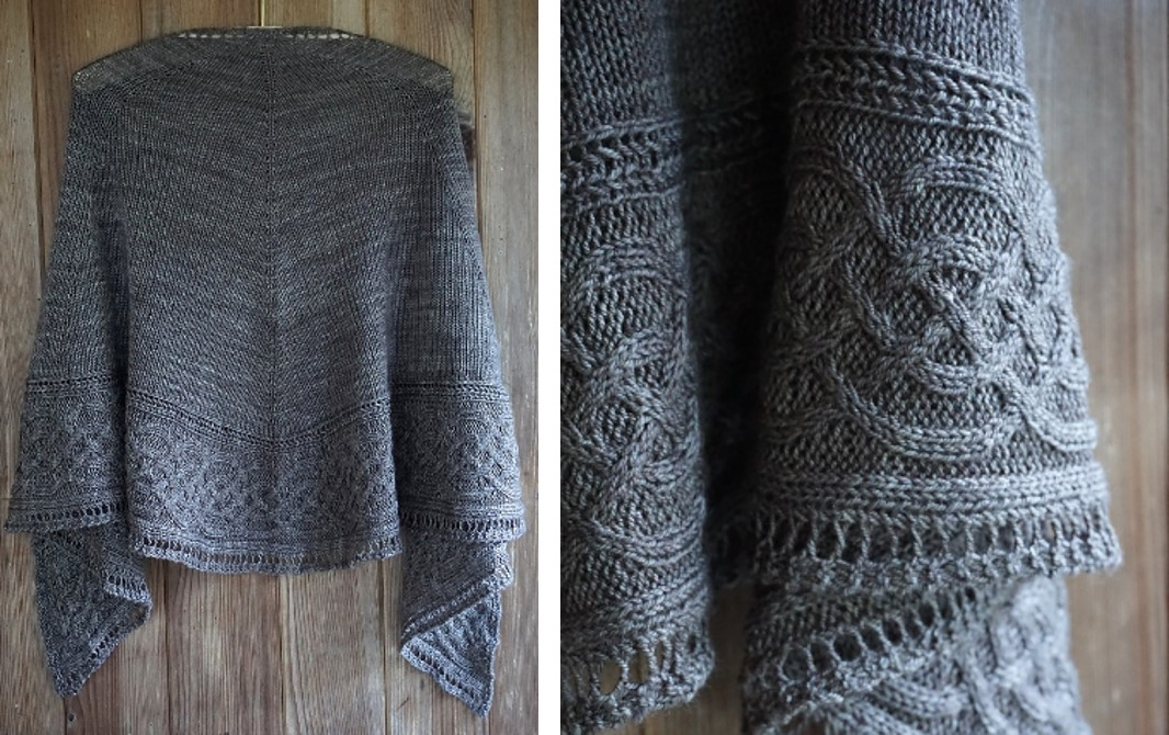 Celtic Myths Knitted Shawl Free Knitting Pattern