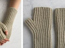 Fisherman's Rib Knitted Hand Warmers  The Knitting Space