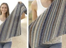 Lynette Striped Knitted Shawl | The Knitting Space