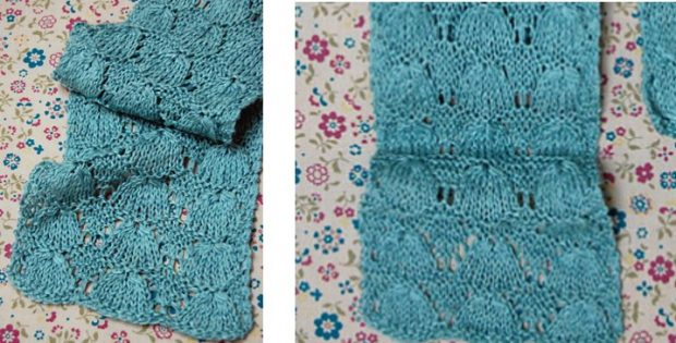 april showers knitted lace scarf | The Knitting Space