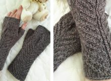 Comfy Knitted Fingerless Gloves  The Knitting Space