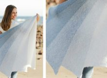 Blue Rainbow Knitted Shawl | The Knitting Space