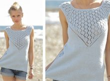 Crashing Waves Knitted Lace Summer Top | The Knitting Space