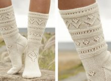 Bright Side Knitted Lace Socks | The Knitting Space