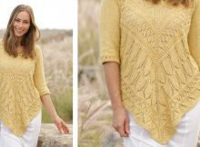 Golden Summer Knitted Lace Jumper | The Knitting Space