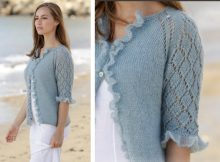 Seaside Dream Knitted Lace Cardigan | The Knitting Space