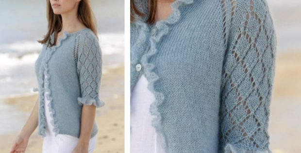Seaside Dream Knitted Lace Cardigan [FREE Knitting Pattern]